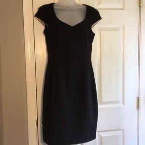 H&M low V neck black dress
